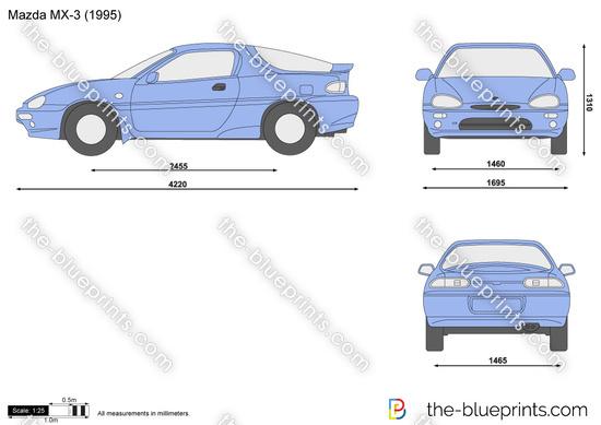 Mazda Mx 3 Vector Drawing