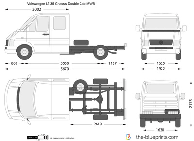 Volkswagen LT 35 Chassis Double Cab MWB