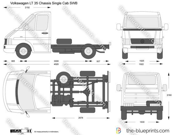 Volkswagen LT 35 Chassis Single Cab SWB