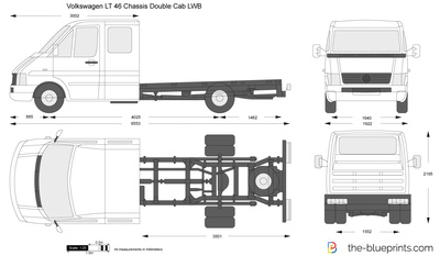 Volkswagen LT 46 Chassis Double Cab LWB