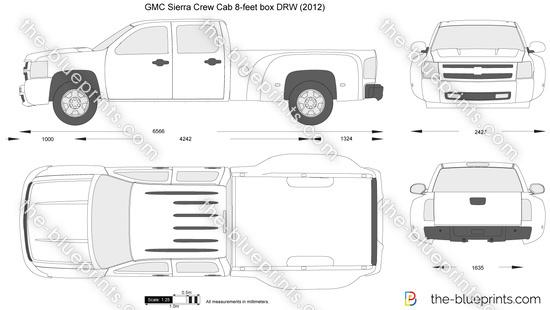 GMC Sierra Crew Cab 8-feet box DRW