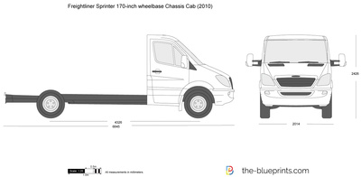 Freightliner Sprinter 170-inch wheelbase Cab Chassis