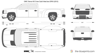 GMC Sierra HD Crew Cab 8-feet box DRW