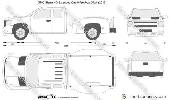 GMC Sierra HD Extended Cab 8-feet box DRW