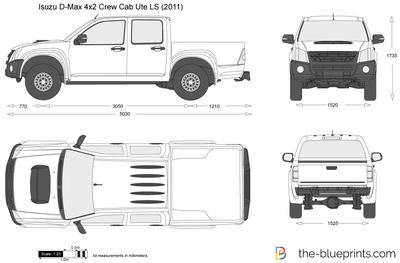 Isuzu D-Max 4x2 Crew Cab Ute LS (2011)