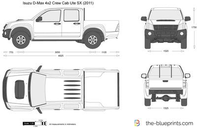 Isuzu D-Max 4x2 Crew Cab Ute SX (2011)