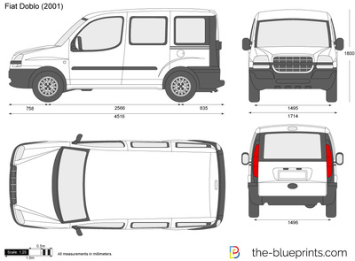 Fiat doblo on fiat 500 dimensions