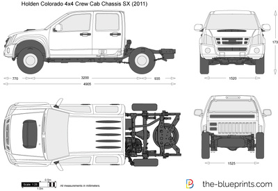 Holden Colorado 4x4 Crew Cab Chassis SX