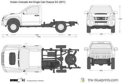 Holden Colorado 4x4 Single Cab Chassis SX