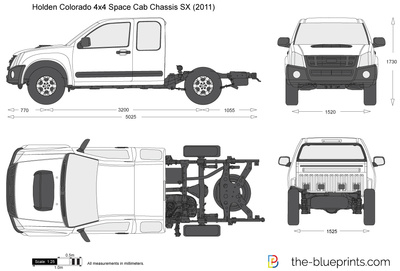 Holden Colorado 4x4 Space Cab Chassis SX