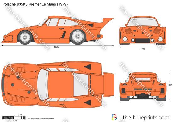 Porsche 935K3 Kremer Le Mans