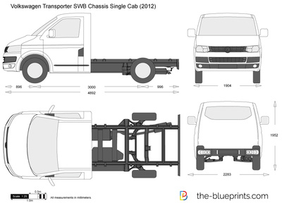 Volkswagen Transporter T5.2 SWB Chassis Single Cab