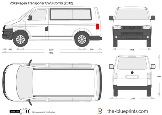 Volkswagen Transporter T5.2 SWB Combi