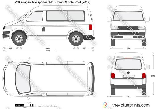 Volkswagen Transporter T5.2 SWB Combi Middle Roof