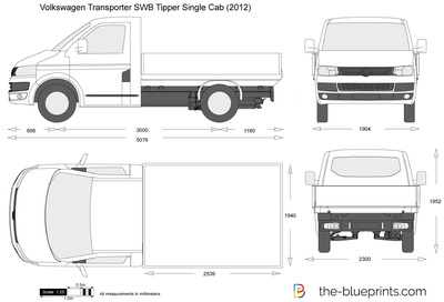 Volkswagen Transporter T5.2 SWB Tipper Single Cab