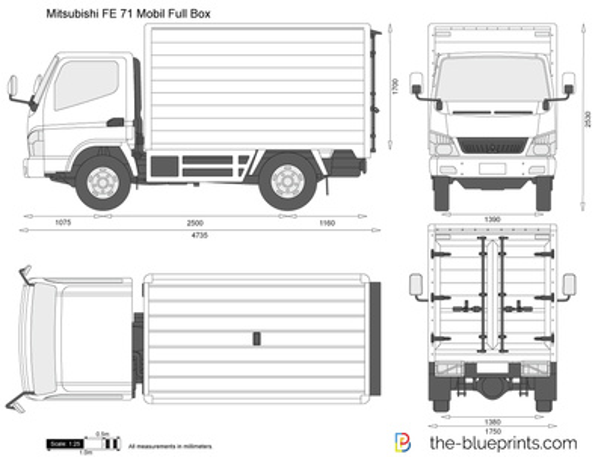 Mitsubishi FE 71 Mobil Full Box
