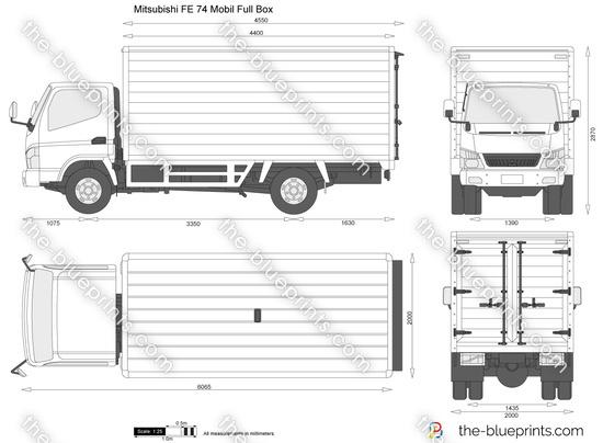 Mitsubishi FE 74 Mobil Full Box