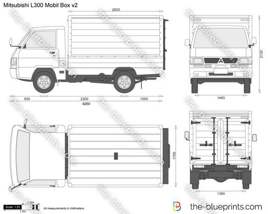 Mitsubishi L300 Mobil Box v2