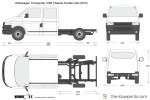 Volkswagen Transporter T5.2 LWB Chassis Double Cab (2012)