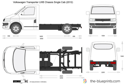 Volkswagen Transporter T5.2 LWB Chassis Single Cab