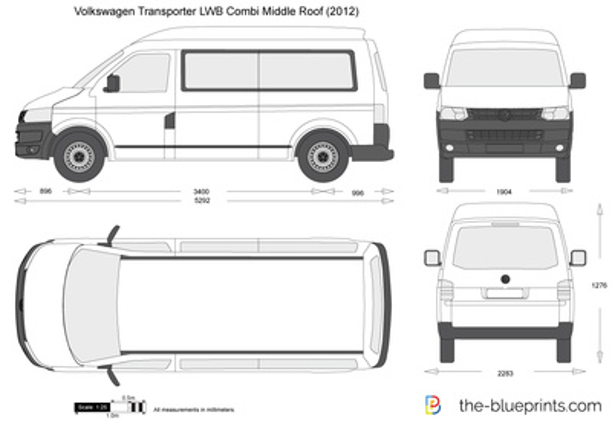 Volkswagen Transporter T5.2 LWB Combi Middle Roof