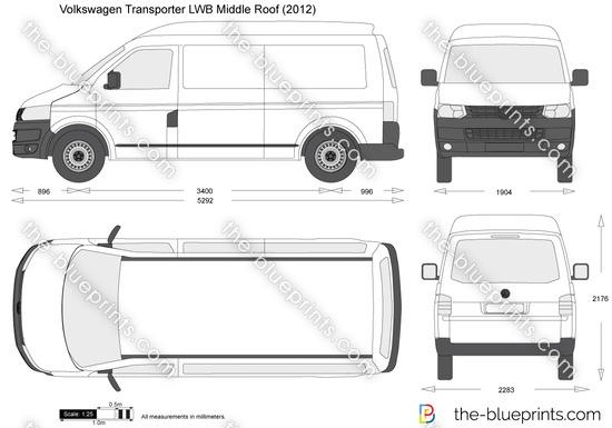 Volkswagen Transporter T5.2 LWB Middle Roof