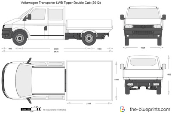 Volkswagen Transporter T5.2 LWB Tipper Double Cab