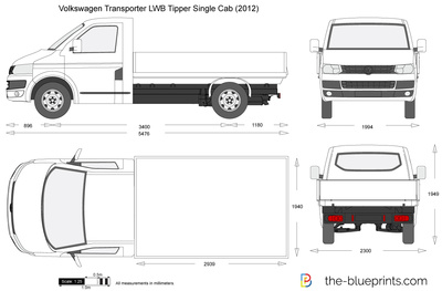 Volkswagen Transporter T5.2 LWB Tipper Single Cab