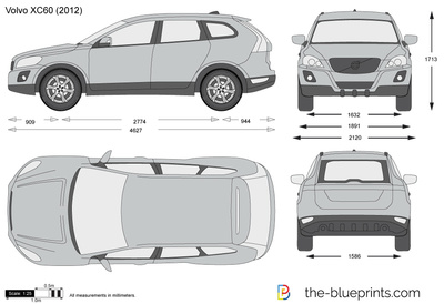 the vector drawing volvo xc60. Black Bedroom Furniture Sets. Home Design Ideas