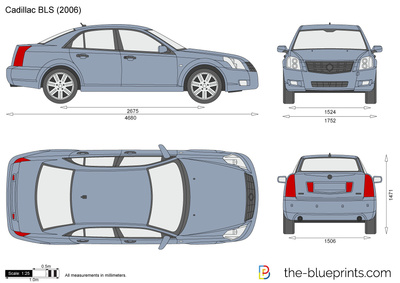 Cadillac BLS vector drawing