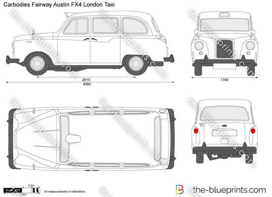 Carbodies Fairway Austin FX4 London Taxi