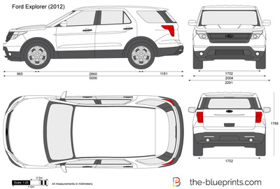The Vector Drawing Ford Explorer