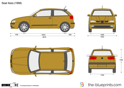 seat ibiza vector drawing. Black Bedroom Furniture Sets. Home Design Ideas