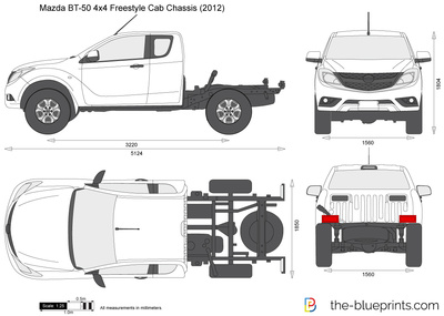 Mazda BT-50 4x4 Freestyle Cab Chassis