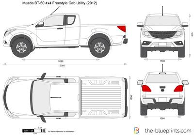 Mazda BT-50 4x4 Freestyle Cab Utility