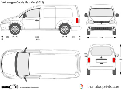 the vector drawing volkswagen caddy maxi van. Black Bedroom Furniture Sets. Home Design Ideas