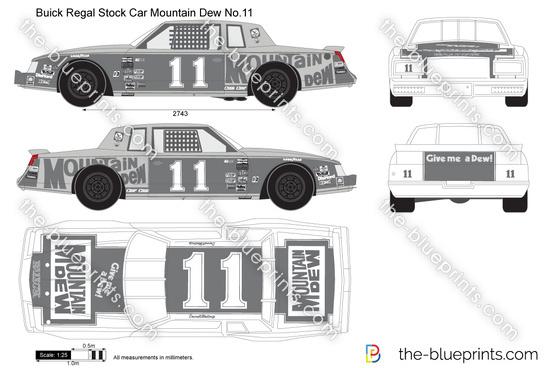 TheBlueprintscom Vector Drawing Buick Regal Stock Car - Buick stock