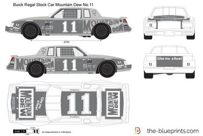 Buick Regal Stock Car Mountain Dew No.11