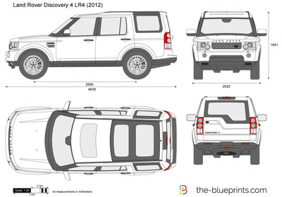 the vector drawing land rover discovery 4. Black Bedroom Furniture Sets. Home Design Ideas