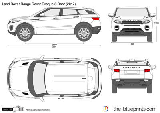 range rover evoque dimensions sketch coloring page. Black Bedroom Furniture Sets. Home Design Ideas
