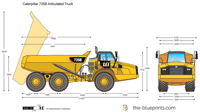 Caterpillar 735B Articulated Truck
