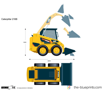 Caterpillar 216B Skid Steer Loader
