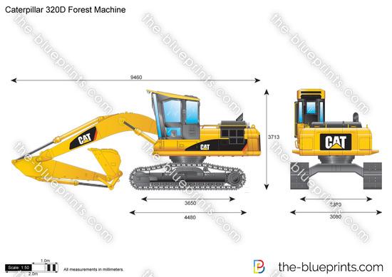 Caterpillar 320D Forest Machine