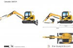 Caterpillar 305DCR Mini Hydraulic Excavator