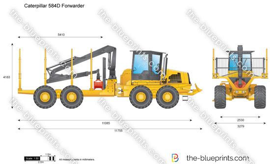 Caterpillar 584D Forwarder
