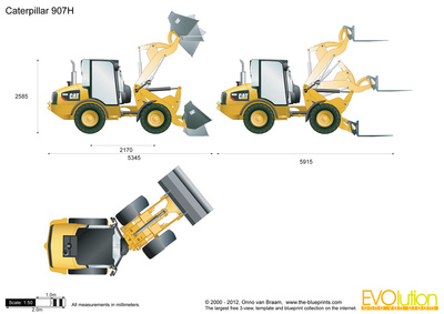 Caterpillar 907H Compact Wheel Loader