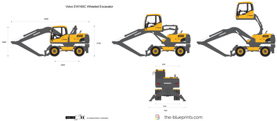 Volvo EW160C Wheeled Excavator