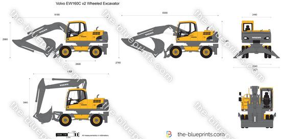 Volvo EW160C v2 Wheeled Excavator
