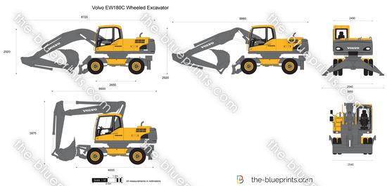 Volvo EW180C Wheeled Excavator