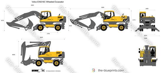 Volvo EW210C Wheeled Excavator